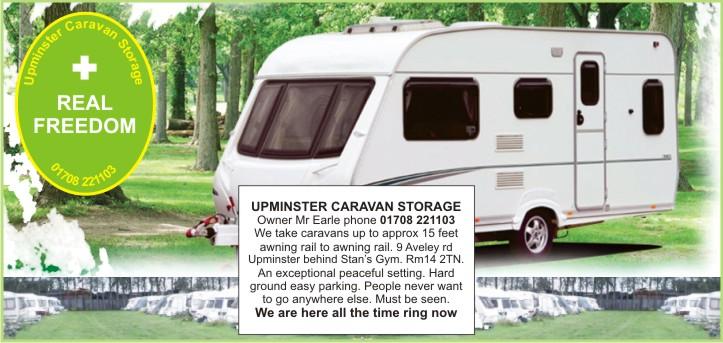 upminster caravan storage from 5 per week an